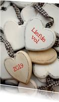 Nieuwjaar Liefdevolle hartjes