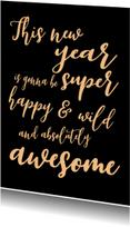 Nieuwjaarskaart Awesome - SK