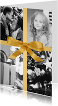 Nieuwjaarskaart Golden Bow luxe
