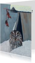 Nieuwjaarskaarten - Nieuwjaarskaart Happy New Year Owl