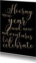 Nieuwjaarskaart Let's celebrate - SK