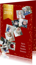 Nieuwjaarskaarten - Nieuwjaarskaart met 10 foto's collage van het jaar