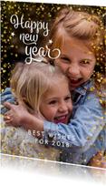 Nieuwjaarskaart modern met sterren en foto
