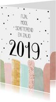 Nieuwjaarskaarten - Nieuwjaarskaarten | Fijn, zalig en schitterend 2019