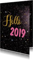 Nieuwjaarskaarten Hello 2019