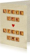 Opa en Oma dag vintage letters