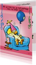 Verjaardagskaarten - Rocco verjaardag papegaaitje ballon