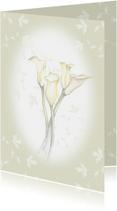 Rouwkaarten - Rouwkaart aquarelbloemen