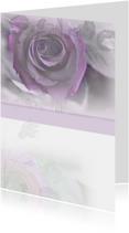 Rouwkaarten - rouwkaart met roos
