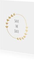 Trouwkaarten - Save the Date krans - HM