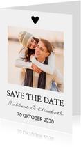 Save the Date zwart wit eigen foto
