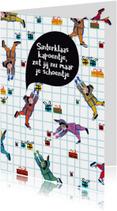 Sinterklaaskaarten - Sinterklaaskaart met hardwerkende pietjes
