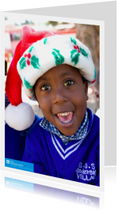 Kerstkaarten - SOS Kinderdorpen Kerstkaart Kerstmuts