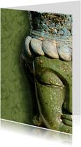 Spirituele kaart Boeddha groen