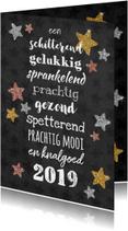 Sprankelende nieuwjaarskaart met alle beste wensen!