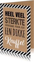 Sterktekaart typografie kraftprint
