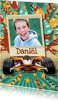 Kinderfeestjes - Stoere uitnodiging raceauto