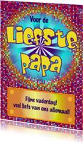 Stoere vaderdagkaart DISCO