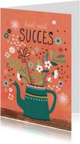 Succes kaarten - Succes kaart kan bloemen