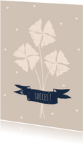 Succes kaarten - Succes Kaart Klavertje Vier - A