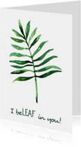 "Succes kaart ""Leaf"" - WW"