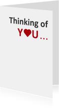 Liefde kaarten - Thinking of you.. nakeddd