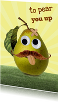 Beterschapskaarten - To pear you up - pleister