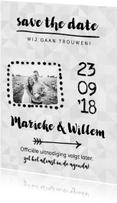 Trouwkaart save the date uitnodiging