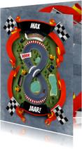 Kinderfeestjes - Uitnodiging 8 jaar racebaan