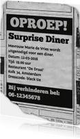 uitnodiging - advertentie Surprise Diner