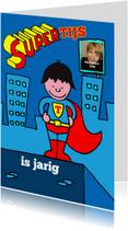 Uitnodiging feestje superman