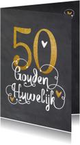 Jubileumkaarten - Uitnodiging Gouden huwelijk - LO