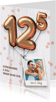 Uitnodiging huwelijk jubileum 12,5 jaar