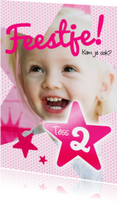 Kinderfeestjes - Uitnodiging kinderfeest meisje