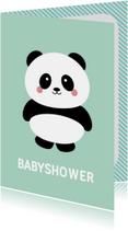 Uitnodiging panda babyshower