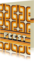Uitnodigingen - Uitnodiging Retro 70's Patroon