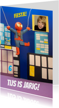 Uitnodiging spiderman feest jongen 3d