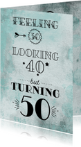 Uitnodiging turning 50 aquarel