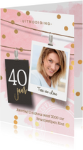 Uitnodiging verjaardag 40