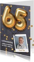 Uitnodiging verjaardag 65 jaar