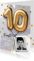 Uitnodiging verjaardag jongen 10 jaar