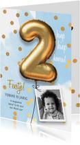 Uitnodiging verjaardag jongen 2 jaar