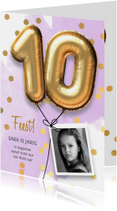 Uitnodiging verjaardag meisje 10 jaar