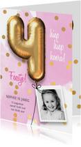 Uitnodiging verjaardag meisje 4 jaar