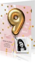 Kinderfeestjes - Uitnodiging verjaardag meisje 9 jaar
