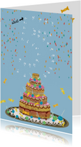 Kinderfeestjes - Uitnodigingskaart voor jongen of meisje die 5 jaar wordt