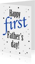 Vaderdag kaarten - vaderdag stippen 1x - ST