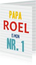 Vaderdagkaart papa is mijn nr. 1