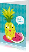 Vakantiekaarten - Vakantie-Ananas Watermeloen-HK