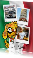 Vakantie Loeki in Italië pizza - A